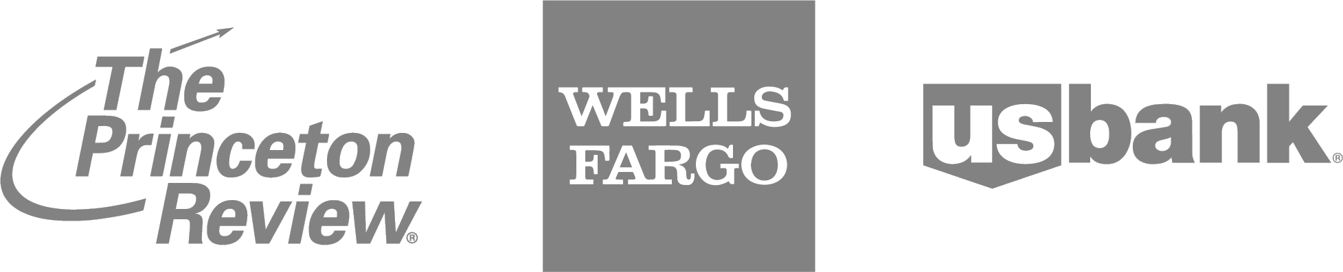 Princeton Review, Wells Fargo, and US Bank